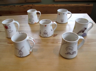 ShprixieLand Studios, Pottery, Coffee Mugs, Frog Peak Cafe